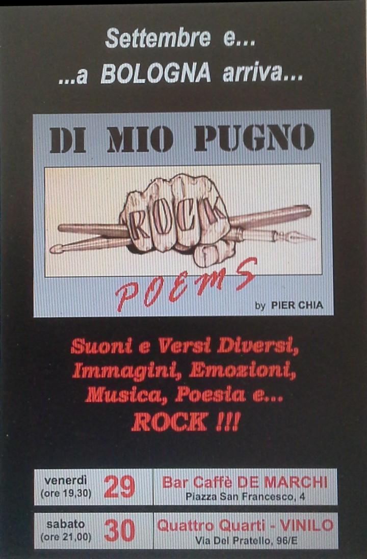 """Presentazione: """"Di Mio Pugno – Rock Poems"""""""