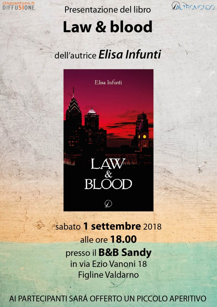 Presentazione romanzo Law & Blood