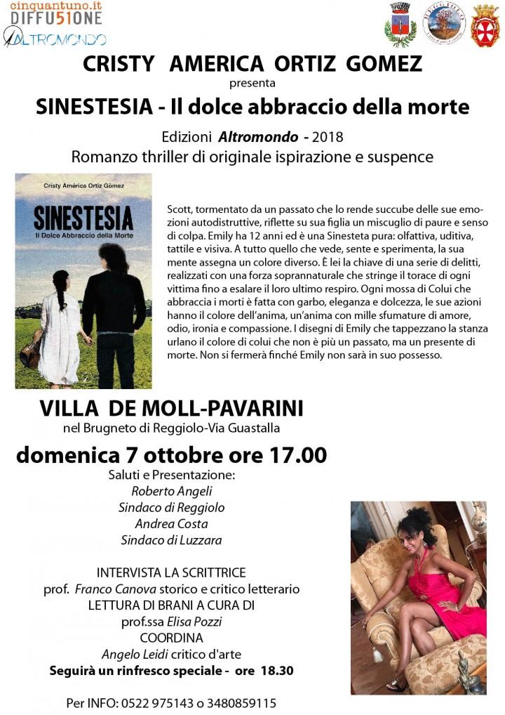 Presentazione del romanzo Sinestesia