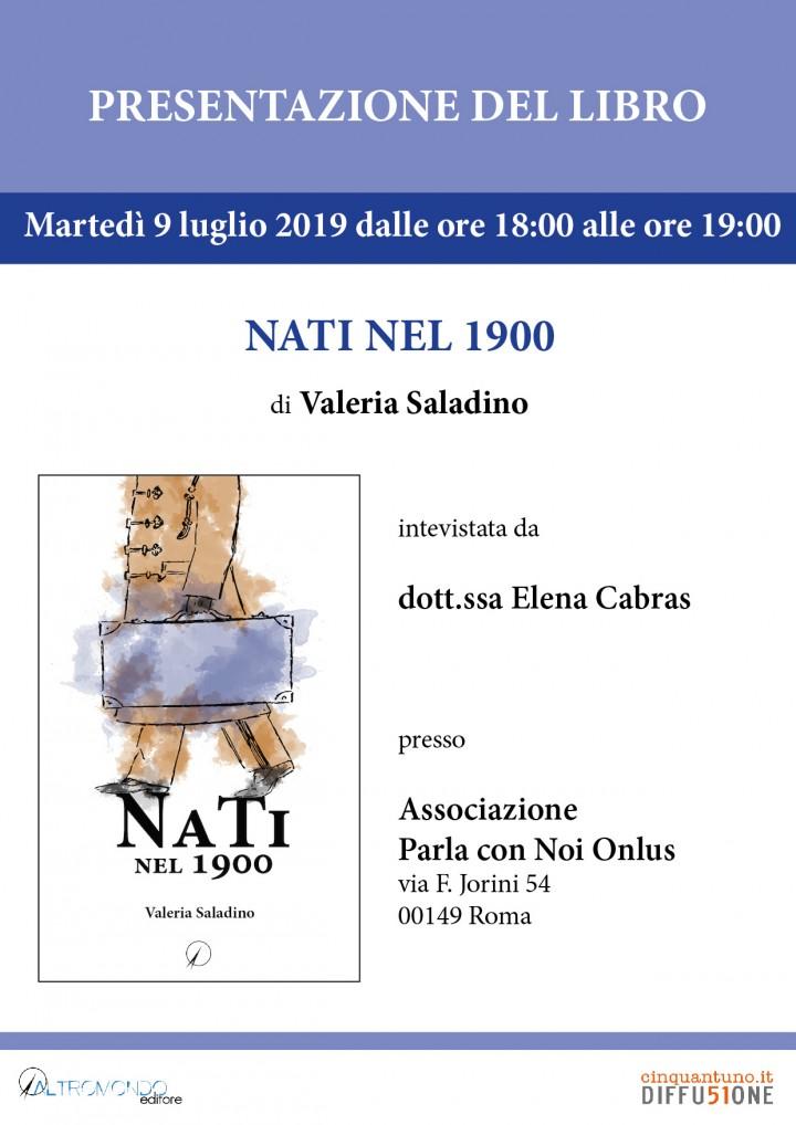 """Presentazione: """"Nati nel 1900"""" di Valeria Saladino"""