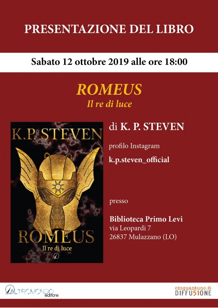 """Presentazione: """"Romeus. Il re di luce"""""""