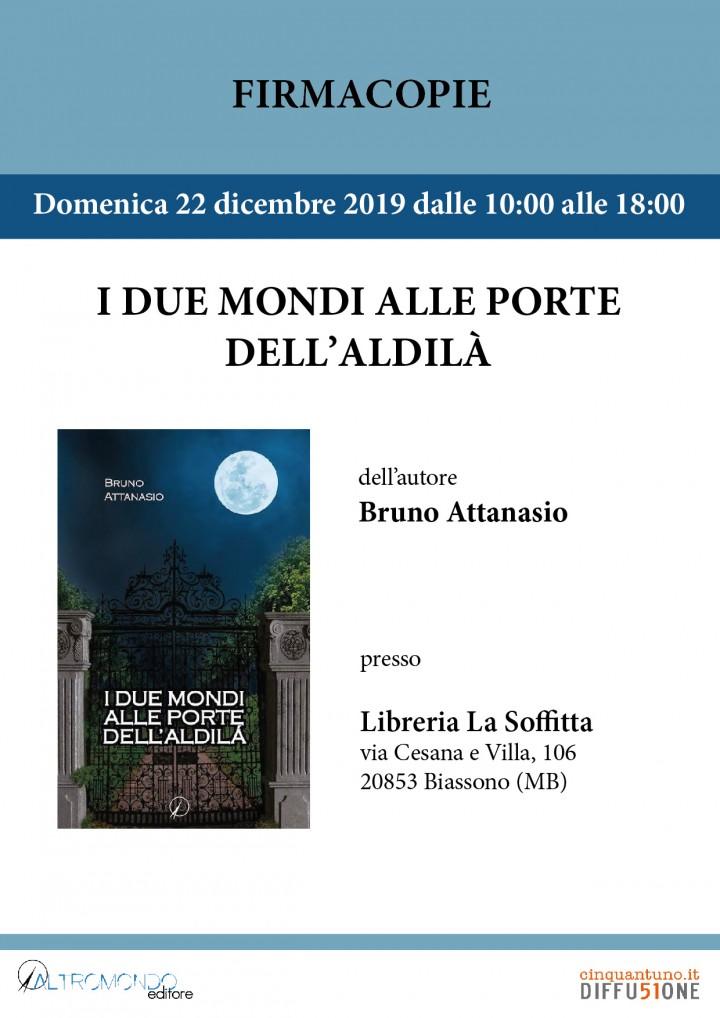 """Firmacopie """"I due mondi alle porte dell'aldilà"""" di Bruno Attanasio"""