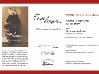 """Aperitivo con l'autrice di """"Forse domani…"""" Francesca Stammelluti"""