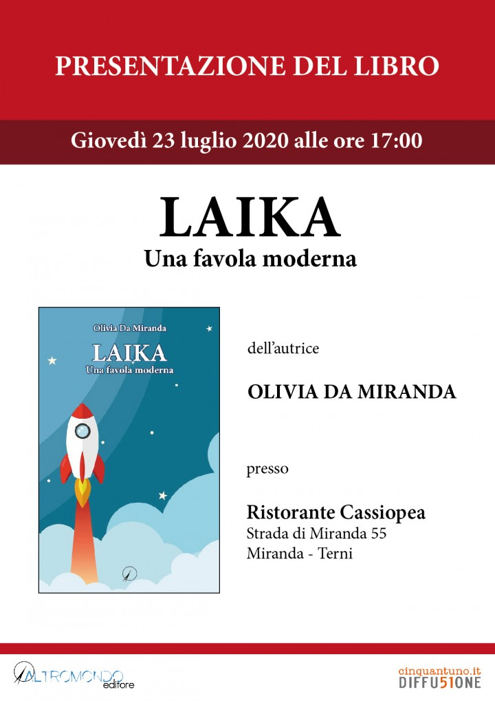 """Presentazione del libro """"Laika. Una favola moderna"""" di Olivia Da Miranda"""