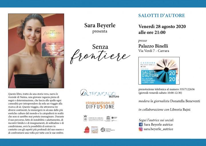 "Evento letterario con Sara Beyerle, autrice di ""Senza frontiere"""