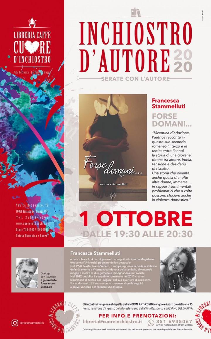 """Evento letterario: Francesca Stammelluti presenta """"Forse domani…"""" a Inchiostro d'autore 2020"""