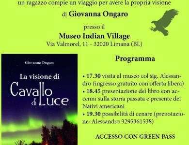 """Presentazione di """"La visione di Cavallo di Luce"""" di Giovanna Ongaro"""